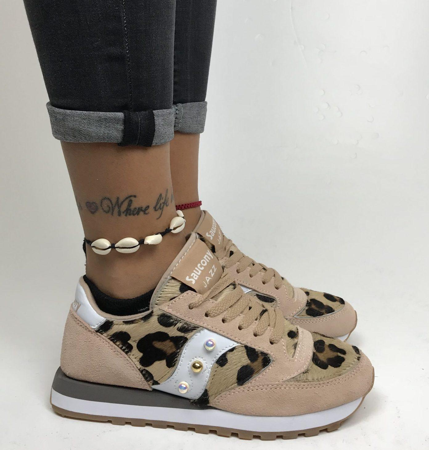 saucony donna leopardate