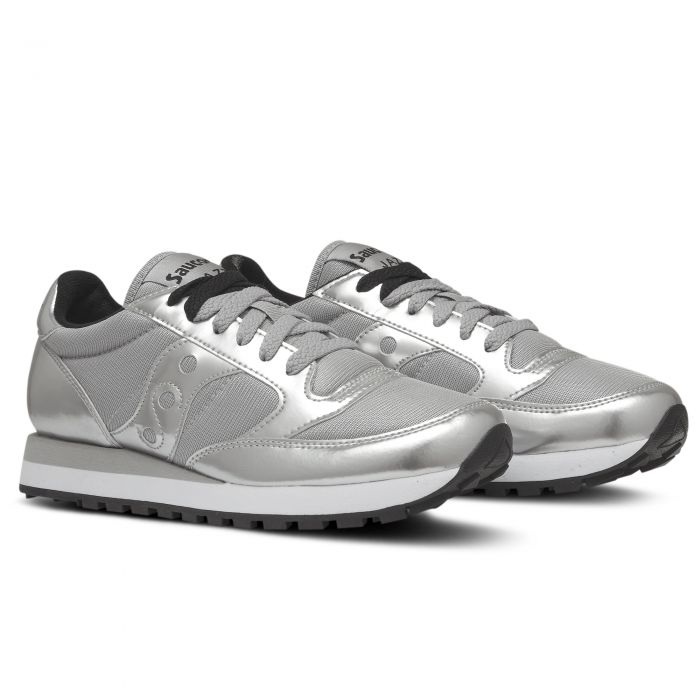 saucony bianche argento